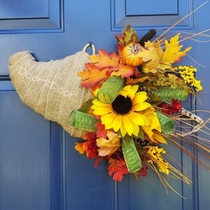 Cornocopia Fall Door Decor 🍁🍂